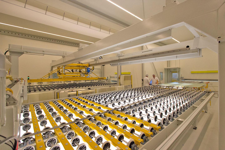 macchinario per la stratifica del vetro - vetreria Po.lo Glass