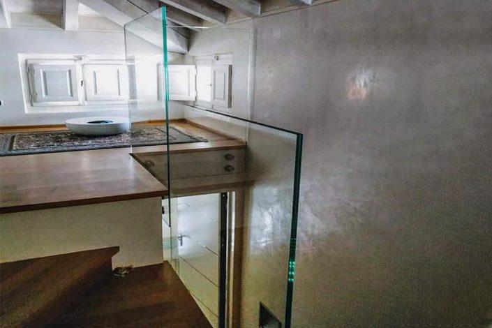 parapetti in vetro stratificato