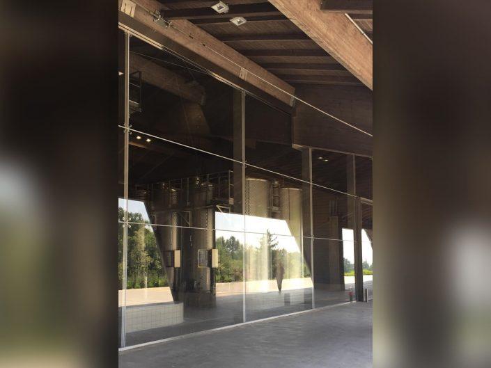 parete in vetro stratificato/temperato