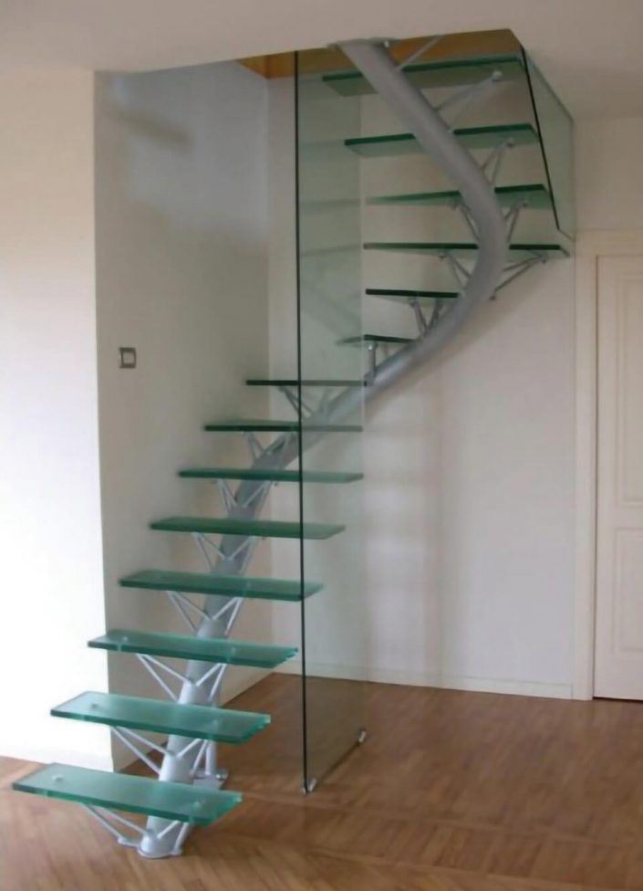 scala in vetro e ferro